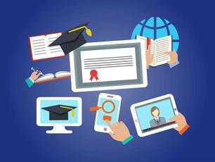 certificate, smartphone, tablet, book, computer.