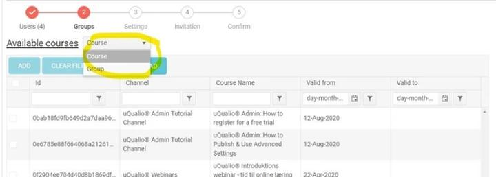 Available Course Example