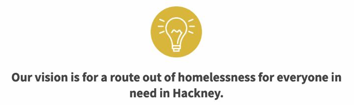 Hackney Winter Night Shelter example messaging