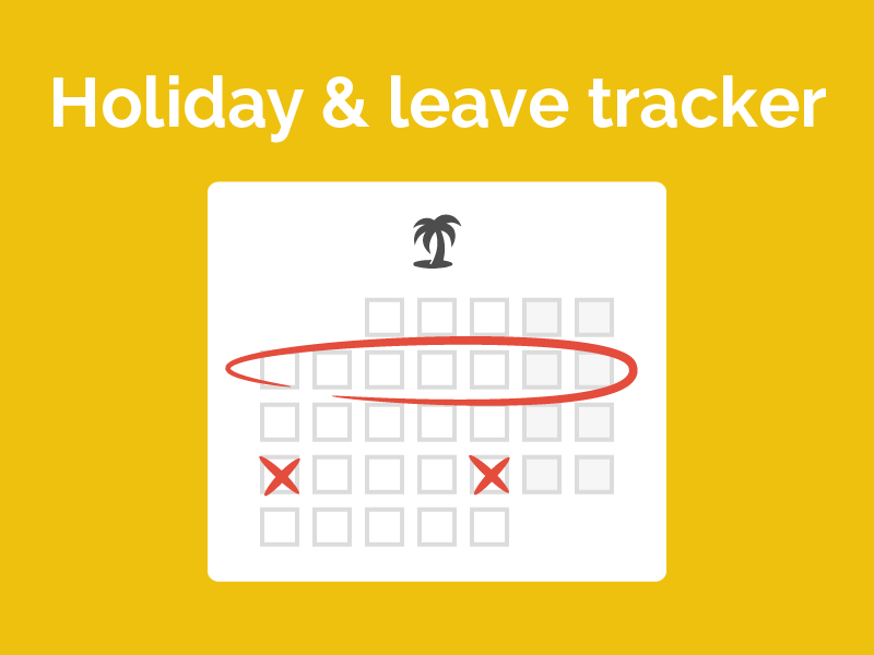 Staff holiday & leave planner - free excel template