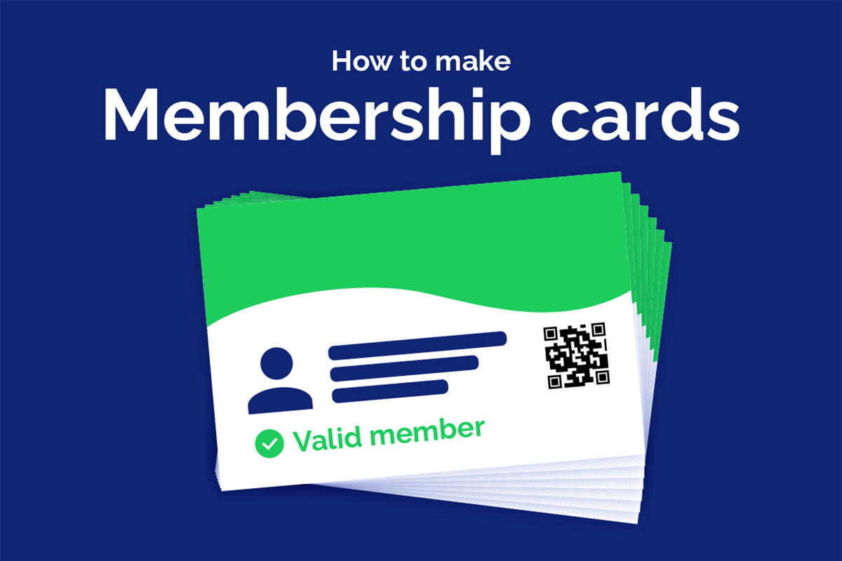 How to make your own membership cards