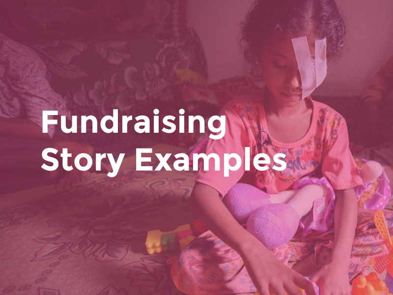 Fundraising stories - samples, examples and tips for success