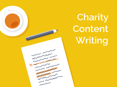 Charity content writing - tips and examples
