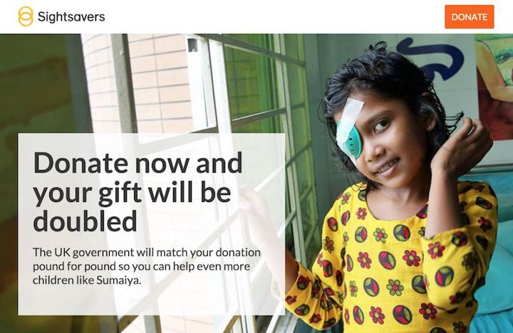 Sightsavers campaign page
