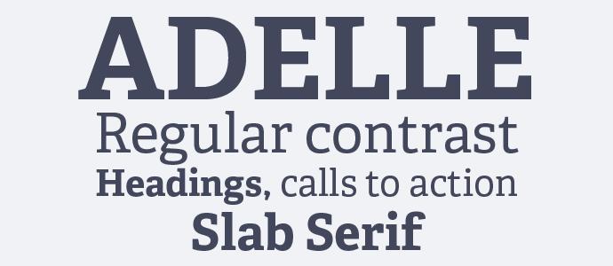 Adelle webfont example