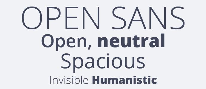 Open Sans examples