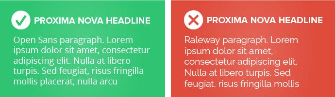 Proxima Nova headline examples
