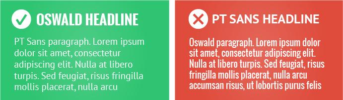 PT Sans headline examples