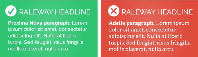 Raleway headline examples