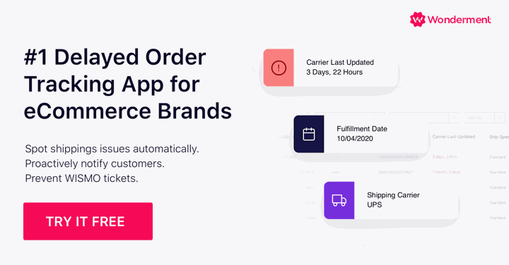 Delayed order tracking Shopify app