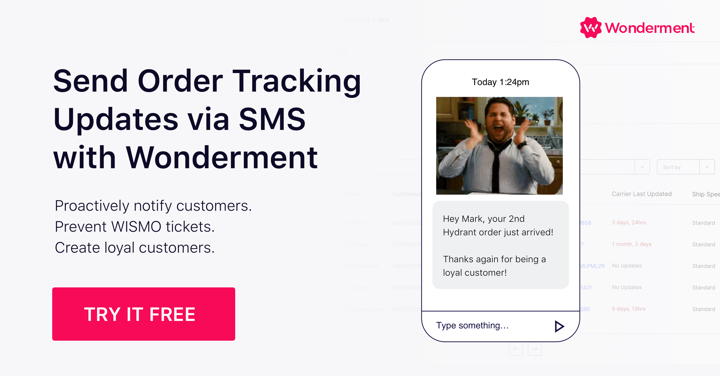 Order Tracking SMS Updates