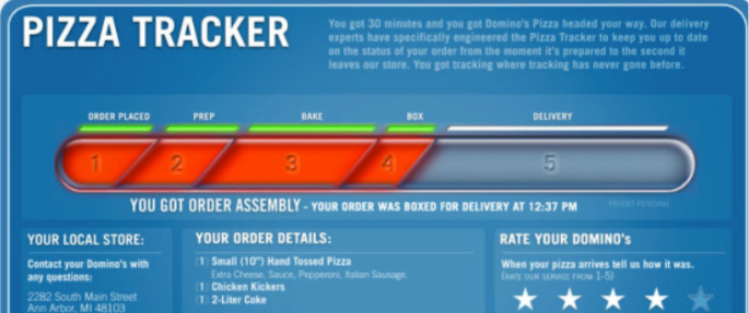 dominos order tracker
