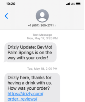sms order reviews