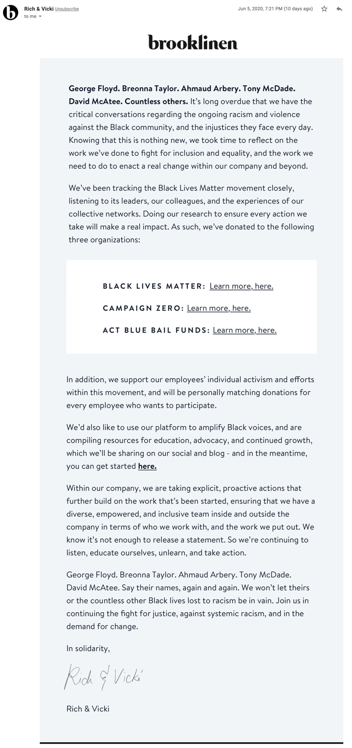 ecommerce-email-example-brooklinen-blm