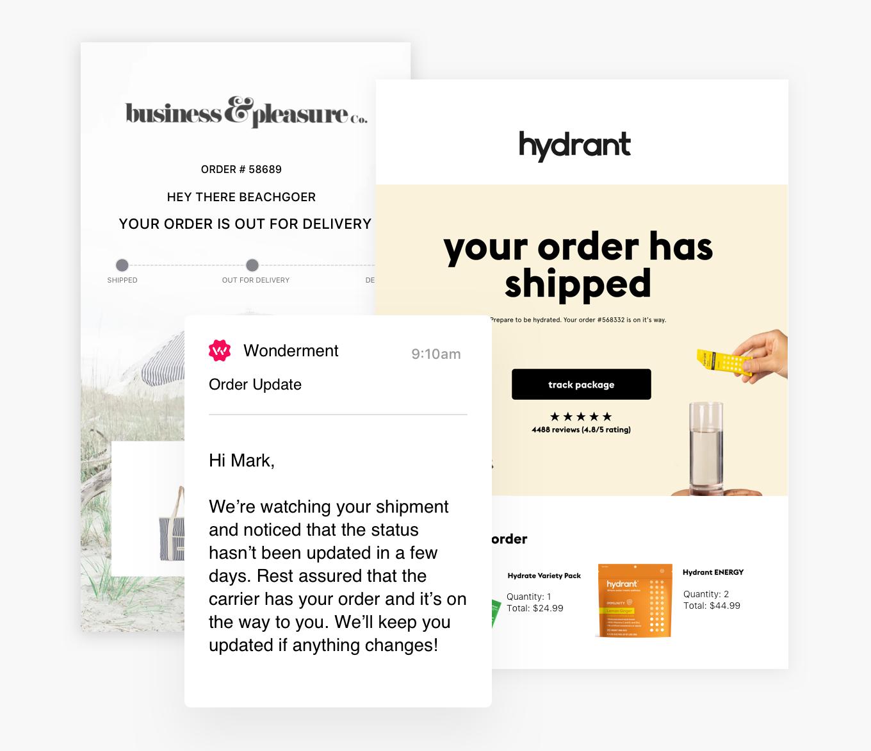 Shipping and Order Tacking Notifications Klaviyo Shopify