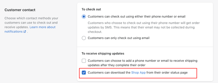 how to remove Shop app on order confirmation pages