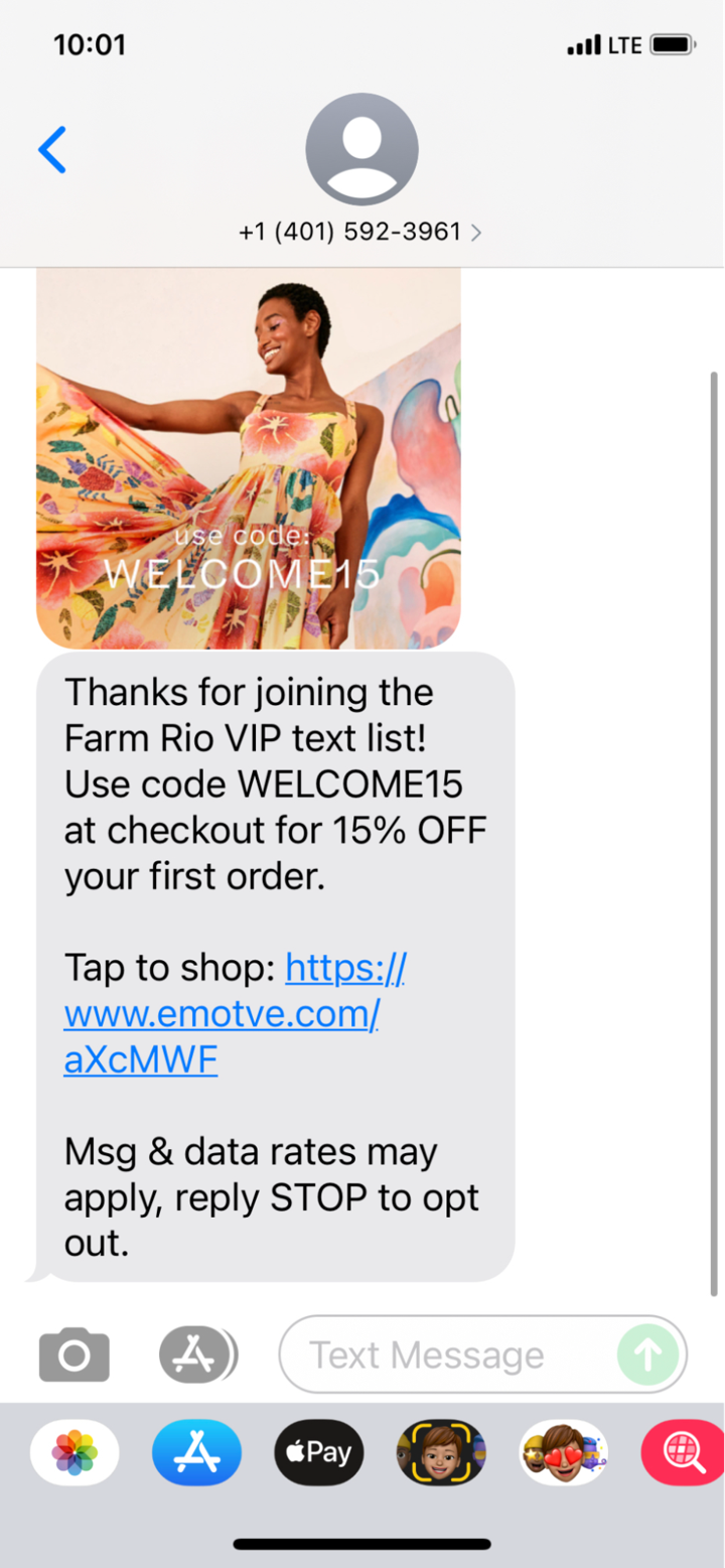 example of sms promotional text ecomm