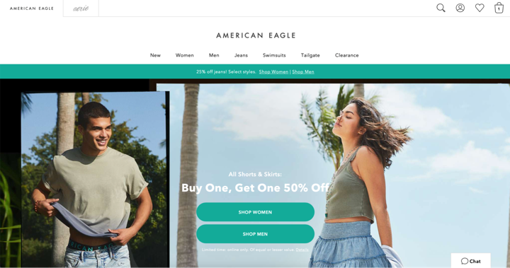 american eagle post purchase homepage
