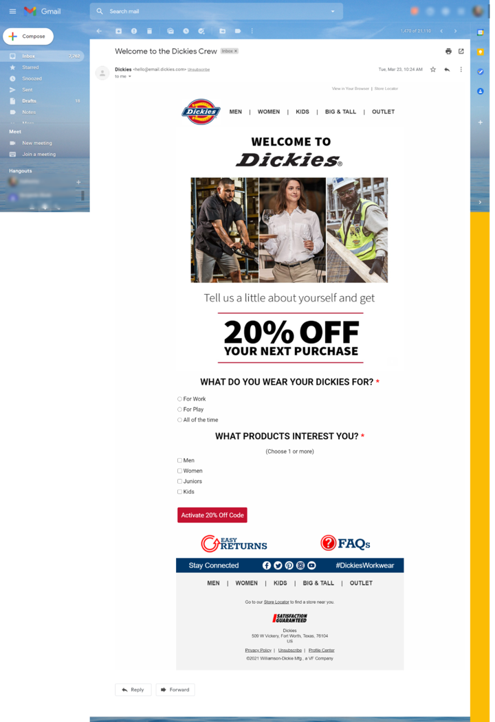 post purchase email promotion