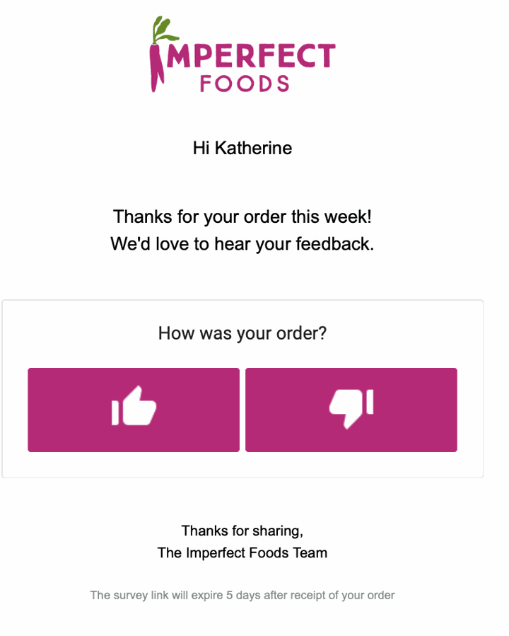imperfect foods subscription email review