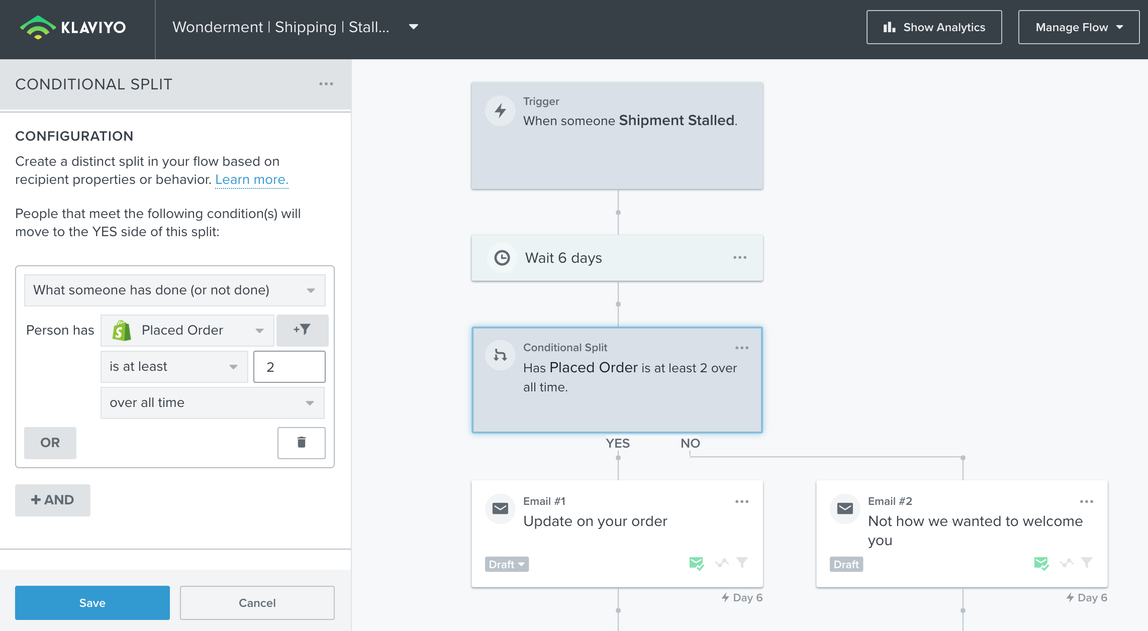 How To Guide: Setting Up Wonderment + Klaviyo Shipping Notification Flows