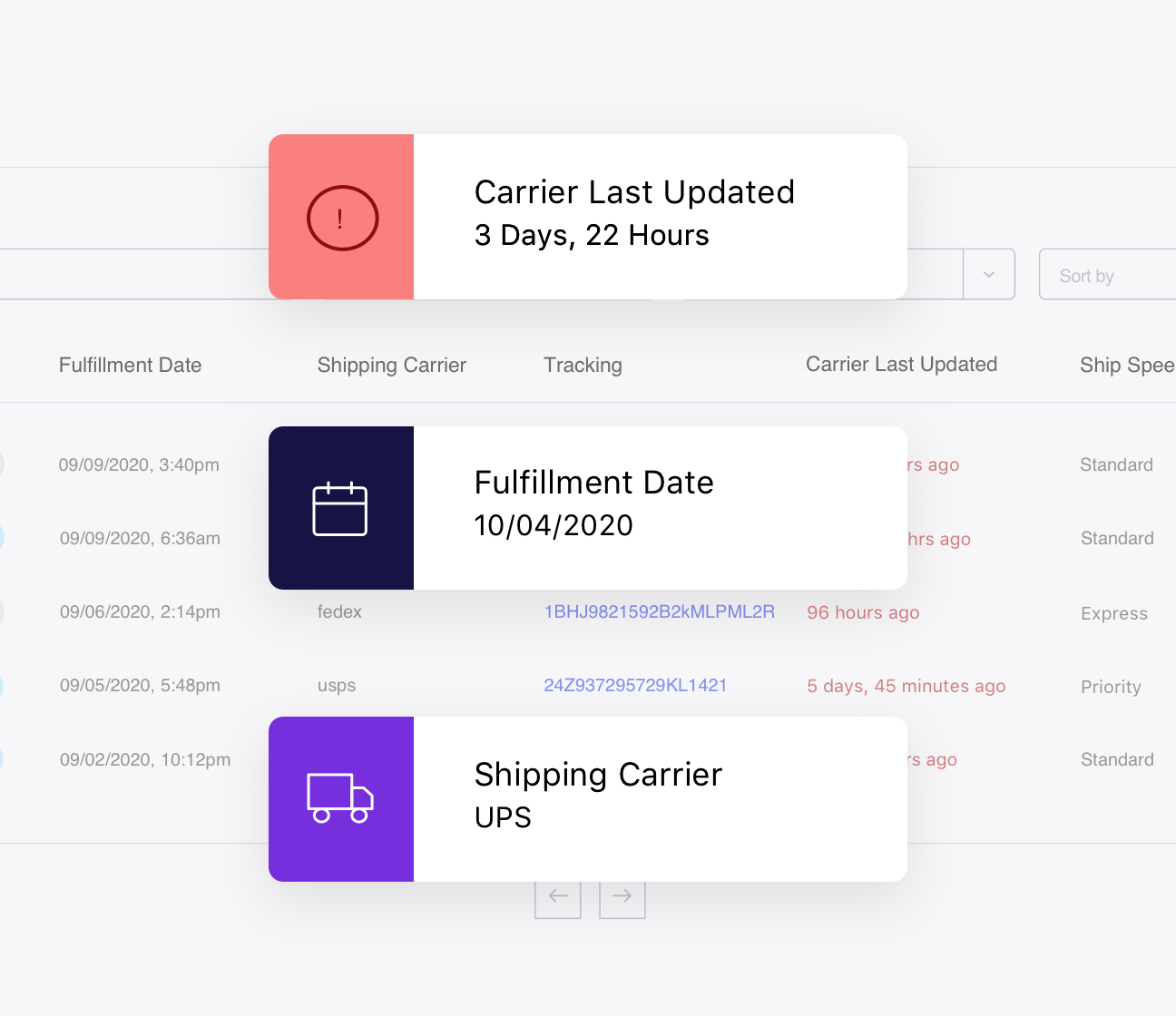 Real-time shipping carrier data