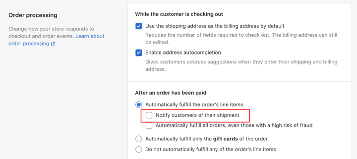Shopify Shipping Updates