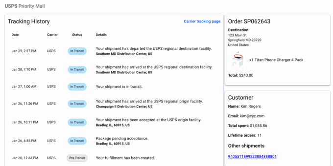 Understand Your Customer's Delivery Experience with the Shipment Detail View