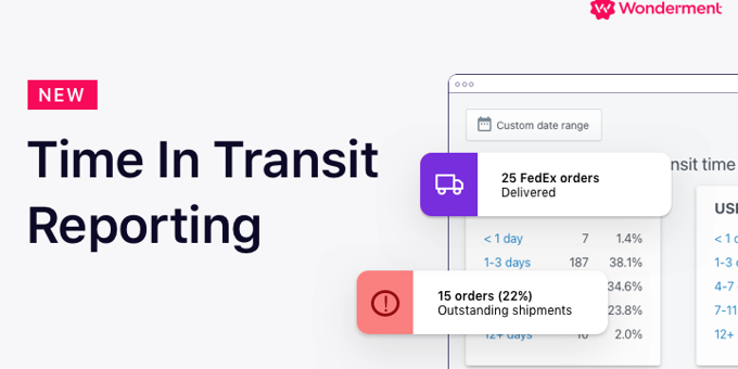 New in Wonderment: Time In Transit Reporting