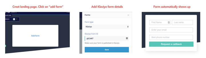 Adding Klaviyo Forms