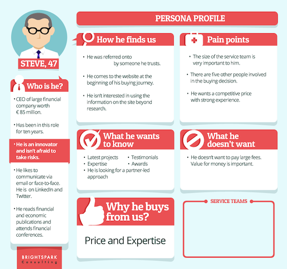 B2B buyer persona example