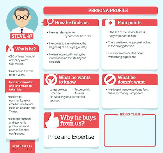 B2B buyer persona example
