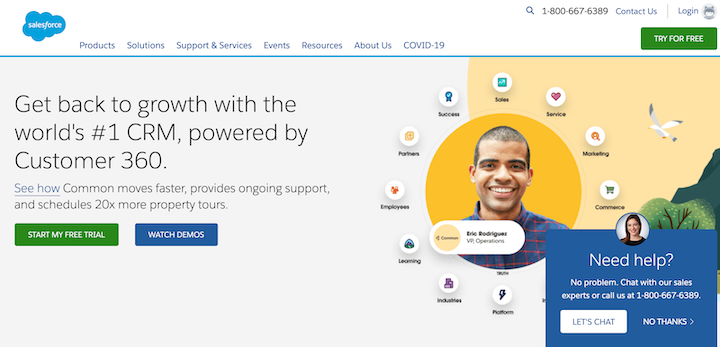 Salesforce website