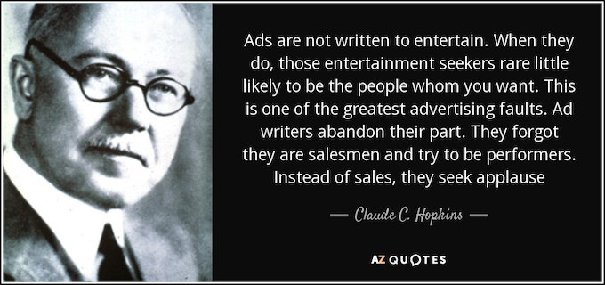 best books for starting a business quote from claude hopkins