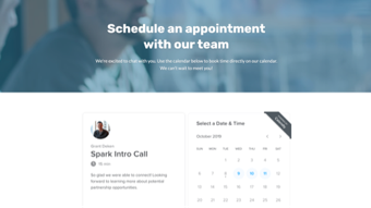 Calendaly landing page