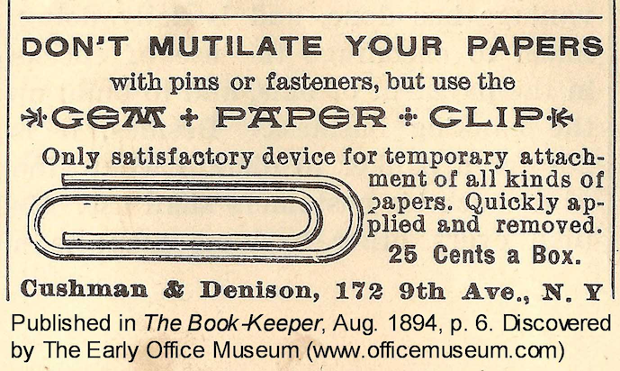 creative copywriting example vintage paper clip ad