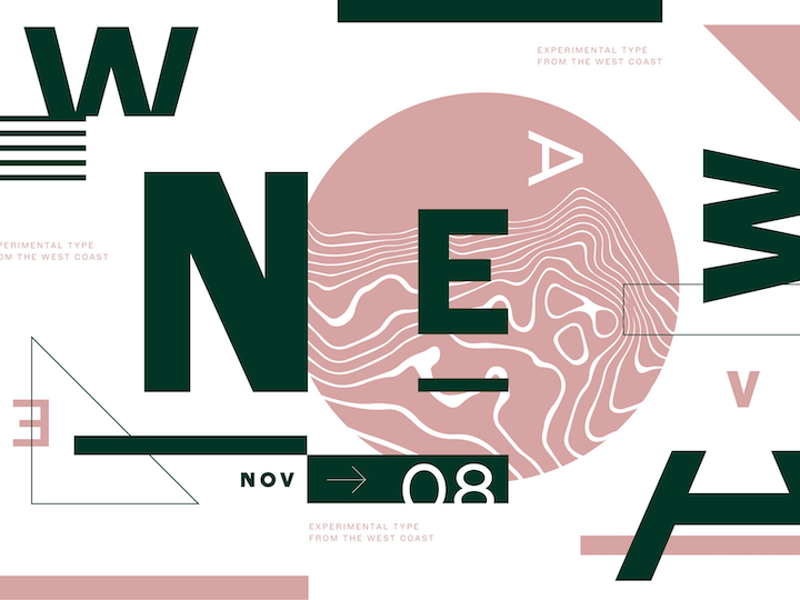 custom illustration with big fonts