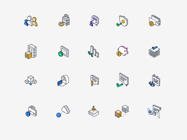 custom illustration examples of icons