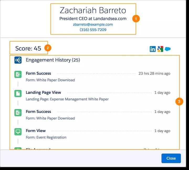 customer engagement view