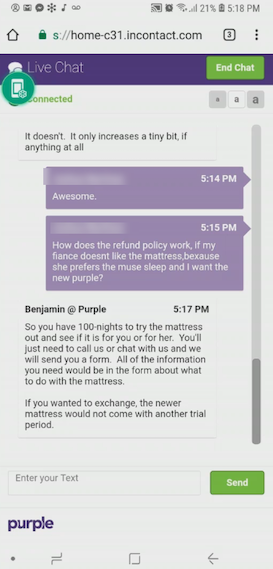 live chat example