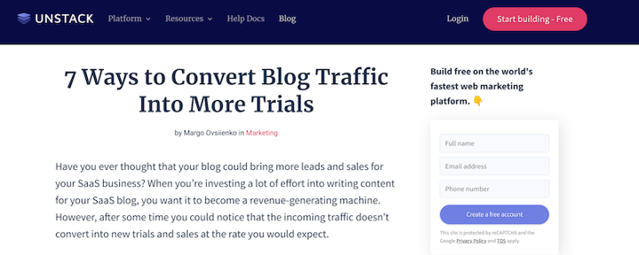 blog conversions post from unstack