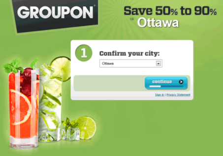 groupon dynamic content example