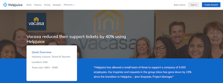 social proof example