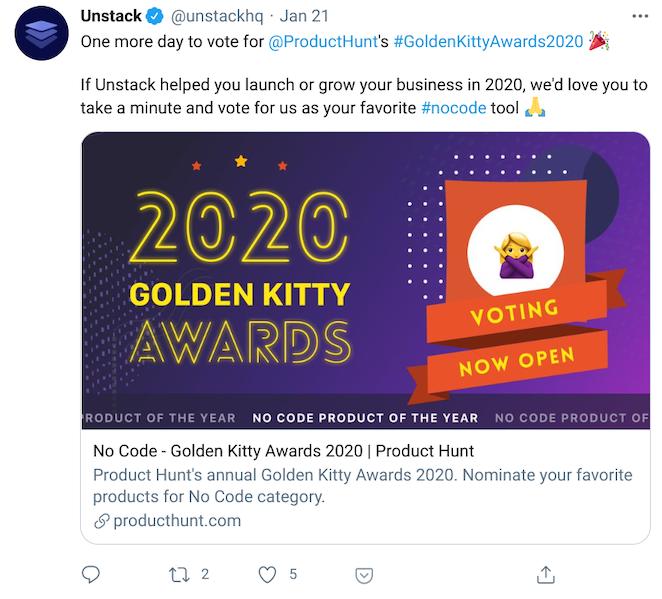 unstack tweet example