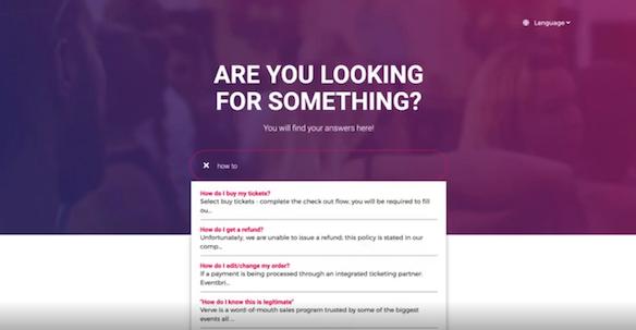 user experience screenshot