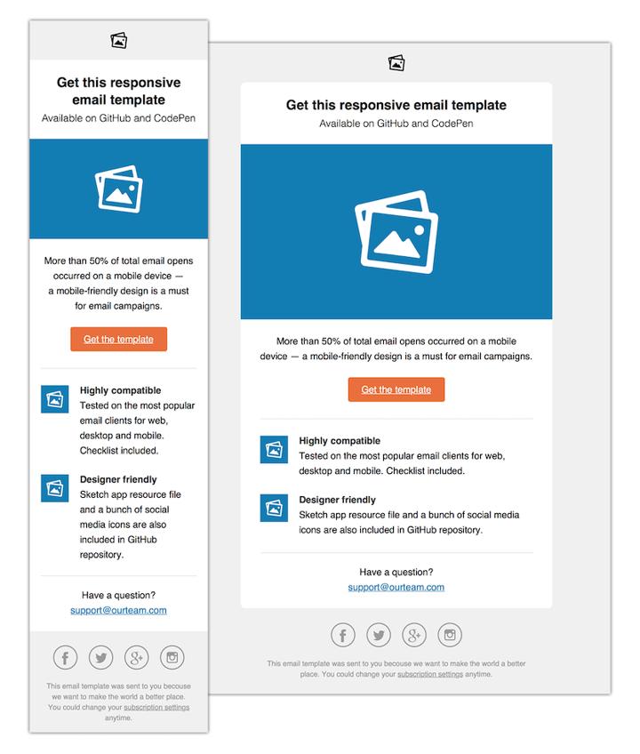 email mobile design vs desktop