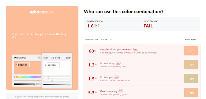 landing page color test results
