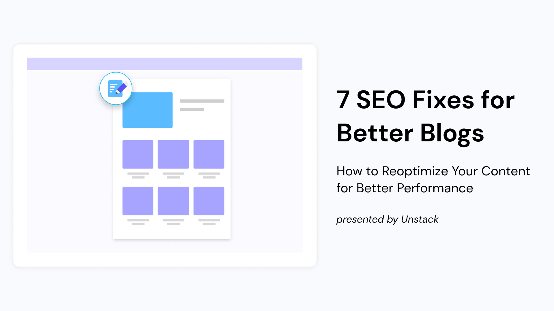 7 SEO Fixes for Better Blogs