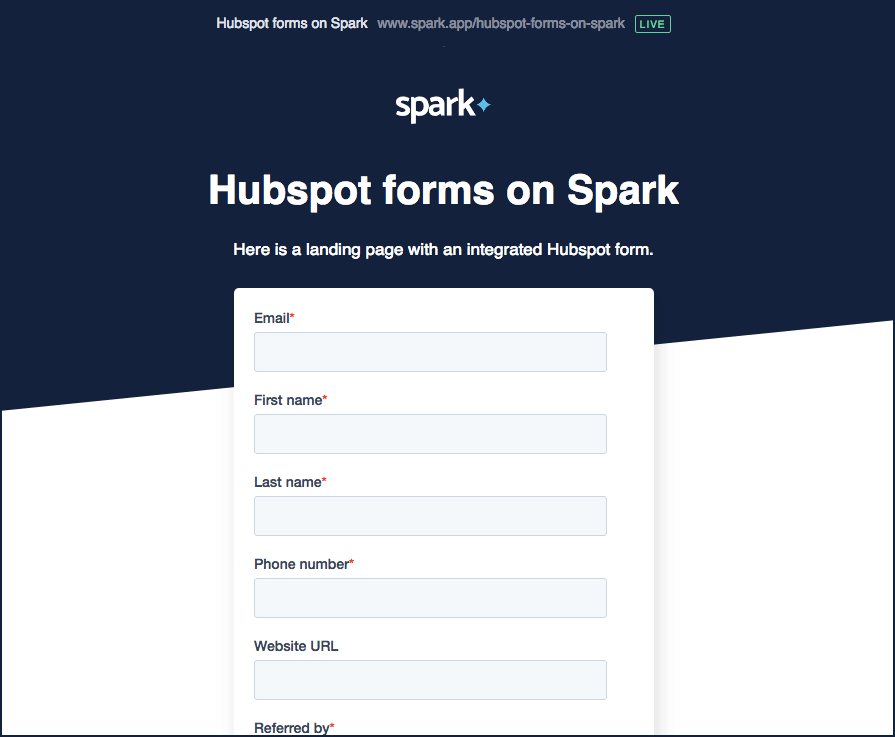 Hubspot forms render