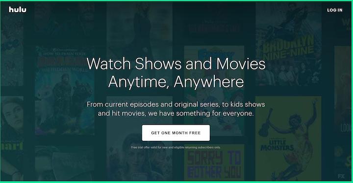 Hulu's free trial offer